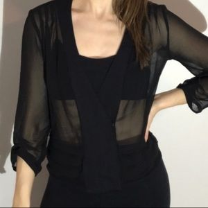 Urban Outfitters Sheer Black Top